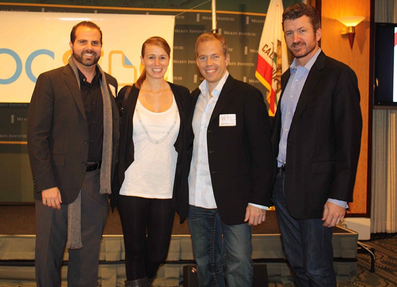 From the early days - Jason and Startups.co Founder/CEO Wil Schroter at a tech holiday party they threw in Santa Monica, 2009