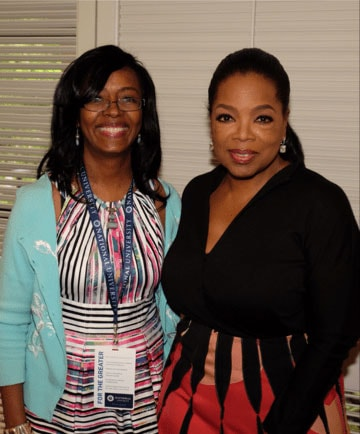 Kim Folsom Meeting Oprah Winfrey