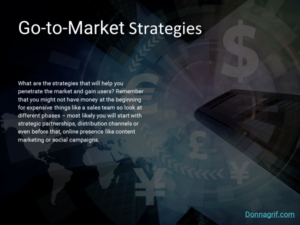 Go-to-Market Strategies Slide