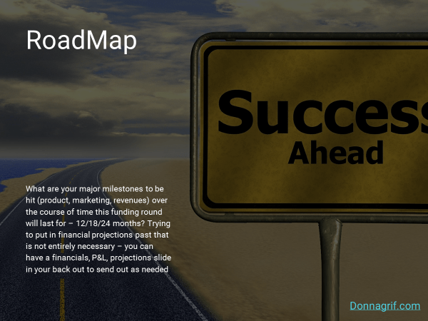 Roadmap Slide