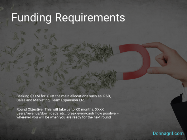 Funding Requirements Slide