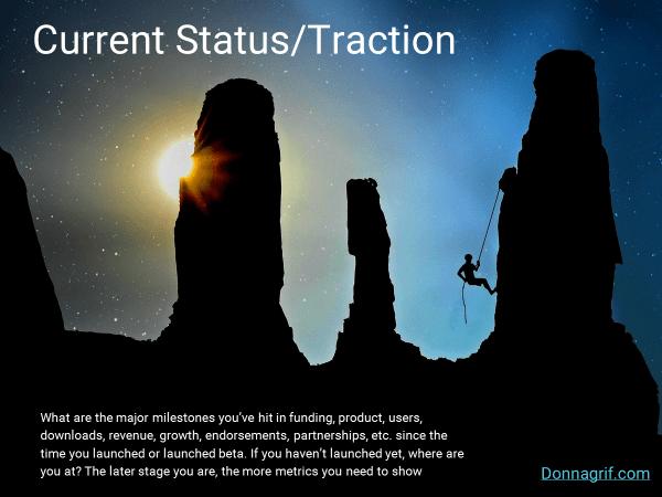 Startup Traction Slide
