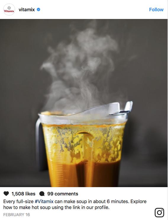 Vitamix Instagram Post