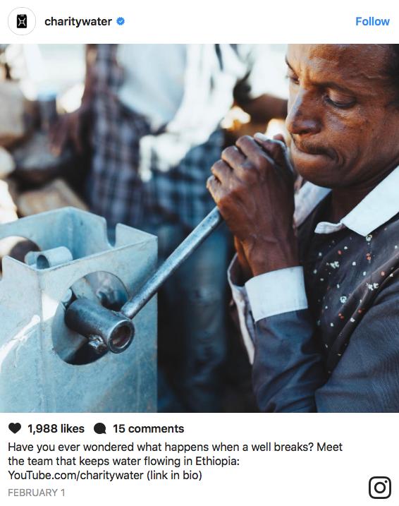 Charity Water Instagram Post