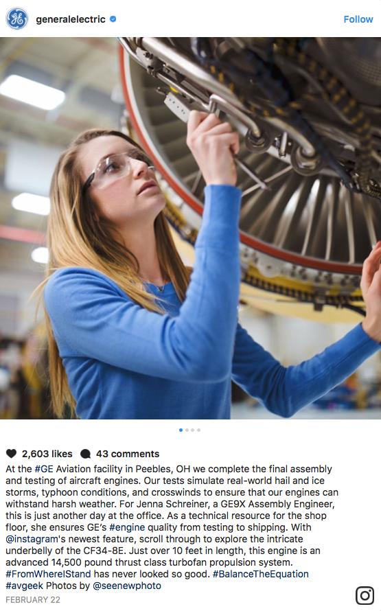 General Electric Instagram Post