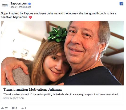 Zappos Facebook Post