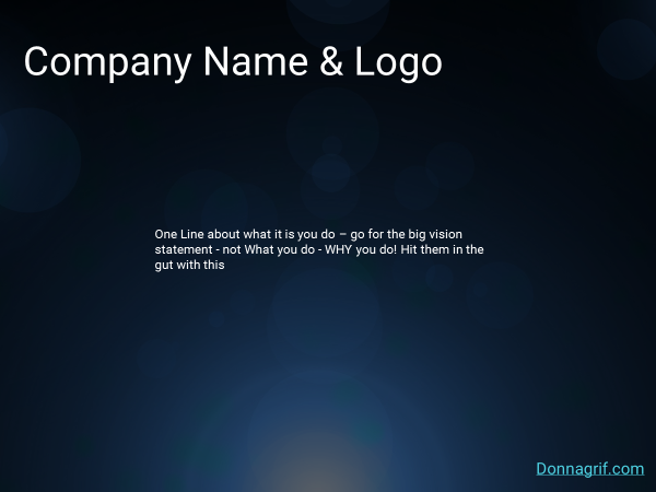 Company Name and Logo- Sales Deck