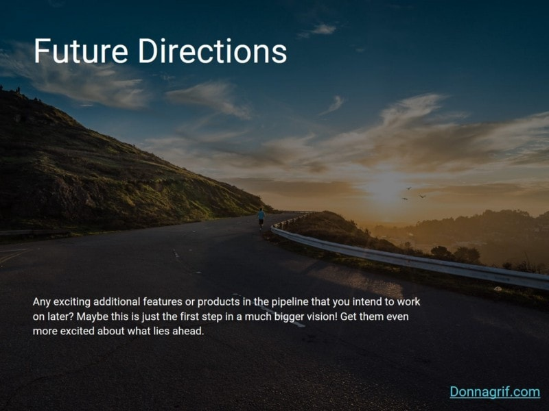 Future Directions - Sales Deck