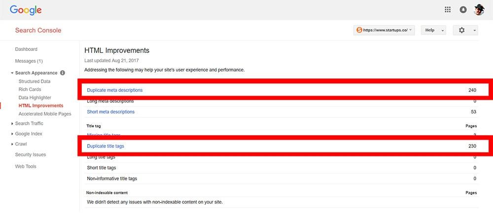 Duplicate Content Example