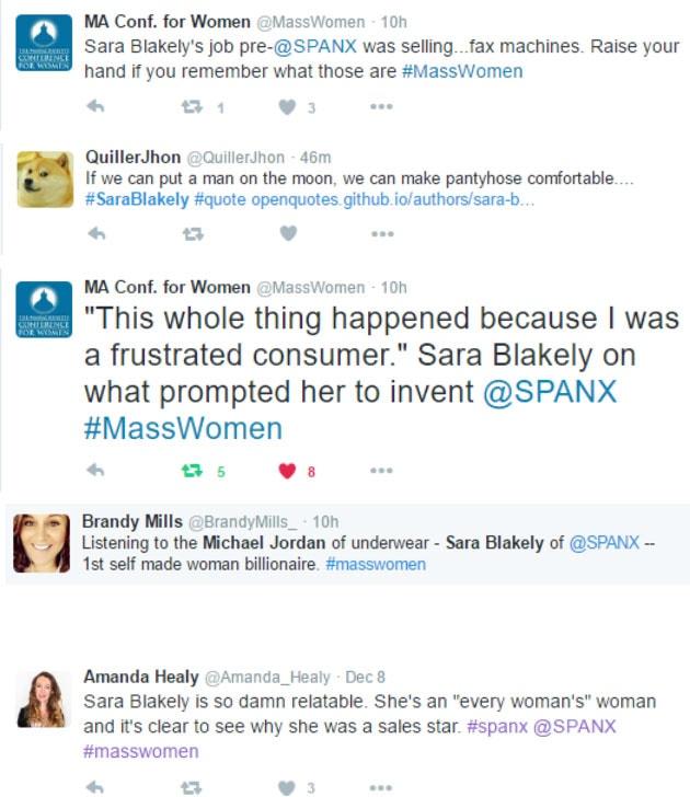 Sara Blakely SPANX Twitter Conversation