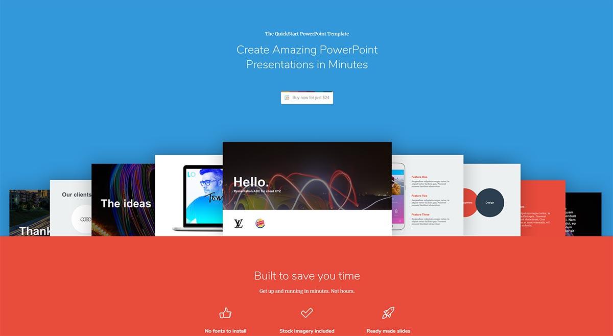 The quickstart powerpoint template create winning pitch decks quickstart powerpoint template maxwellsz
